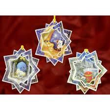 3d card ornaments a set of 3