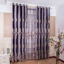 Purple Design Curtains Embroidered Sheer Curtains Blackout Purple Suede Curtain Fabric