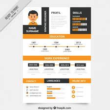 resume design templates downloadable creative resume template design vectors 02 vector business free