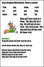 easy reading worksheets www justmommies com