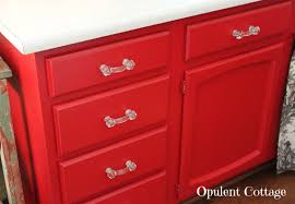Red Cabinets Kitchen by Opulent Cottage Our New Red Kitchen Cabinets