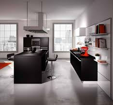cuisine ouverte sur salon surface idee cuisine americaine appartement salon moderne surface