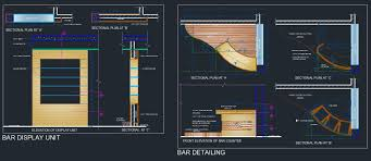 bar counter residence plan n design