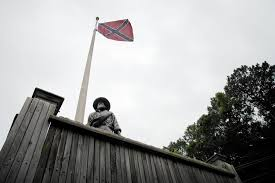 Flag Of Baltimore At Point Lookout In Southern Maryland Confederate Flag Still
