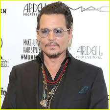 professional makeup and hair stylist johnny depp presents award at makeup artist hair stylist guild