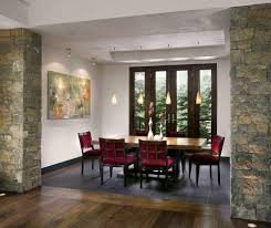 raised ceiling soffit ideas dining room contemporary with open low