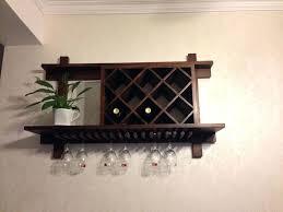 wine rack solid wood wall mounted wine glass rack rustic wood
