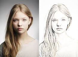 photos turn photo into sketch photoshop drawing art gallery