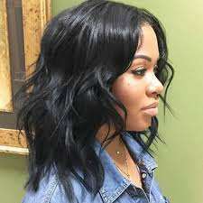bob haircuts black hair wet and wavy black women medium length hairstyle wet and wavy brazilian virgin