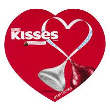 heart box of chocolates hershey s kisses s milk chocolates heart box from shaw s