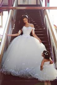 custom made wedding dress shoulder white gown wedding dress lace tulle