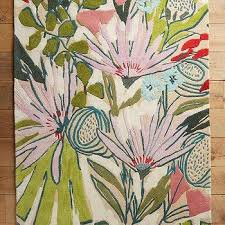 Modern Floral Rugs Modern Floral Wool Rug Products Bookmarks Design Inspiration