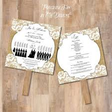 Fan Programs For Weddings Best Wedding Program Fans Products On Wanelo