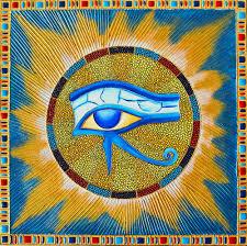 eye of horus and sun mandala mandala dot painting