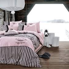 striped pattern is great for black and white bedding black white