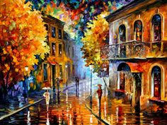 sublime park u2014 palette knife oil painting on canvas by leonid