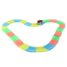 as seen on tv light up track 165 pieces of tracks glow in the dark led light up race car as seen
