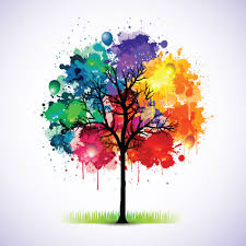 creative colorful tree design elements vector 01 vector plant
