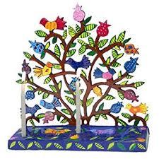 menorah tree of yair emanuel tree of menorah with birds and