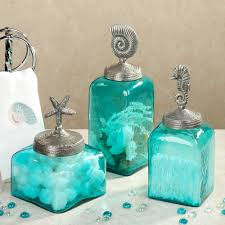 sealife glass canister set aqua set of three my style home ღ