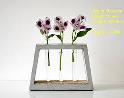 Test Tube Flower Vases Concrete Vase Small Minimalistic Test Tube Flower Glass Vase Buy