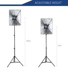 photography kit 4 lamp holder 2m light stand 50x70cm soft box 110