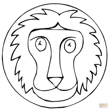 lion sign coloring page free printable coloring pages