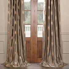 Thai Silk Drapes Classic Rowena Gold Dust Silk Curtains Panel
