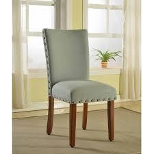 Parson Chairs Homepop Sea Foam Nail Head Parsons Chairs Set Of 2 Free