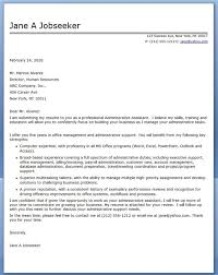 human resources assistant cover letter office assistant cover