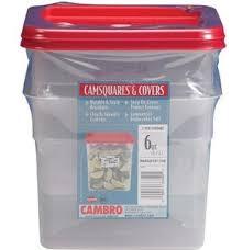 turkey brining container cambro 6sfscw135 camsquare food container 6 quart