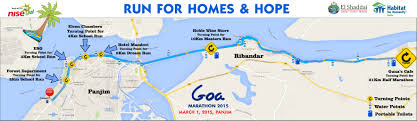 Goa Map Goa Marathon 2017 2018 Date Registration Course Route