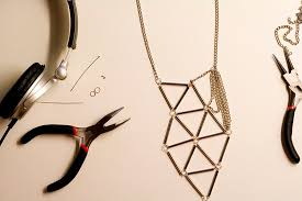 silver necklace diy images Cube jpg