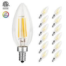 e12 candelabra base led light bulbs otronics led candelabra bulbs ca10 4w 40w equivalent clear light
