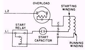 capacitor wiring diagram motor circuit and schematics diagram