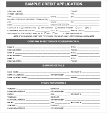 applications template 15 credit application templates free sle exle format