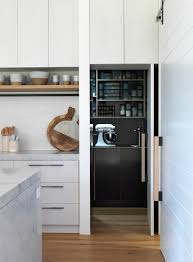 Modern Kitchen Pantry Designs by Cabinets U0026 Storages Amazing Neat Kitchen Pantry Decor With Black