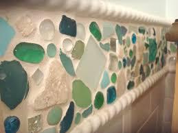 Beach Bathroom Accessories by Bathroom Cheerful Image Of Colorful Scrub Beach Glass Bath
