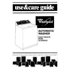 100 pdf manual for whirlpool washer wiring diagrams