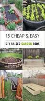 Backyard Ideas Pinterest by Cheap Easy Diy Raised Garden Beds Best Backyard Ideas On Pinterest