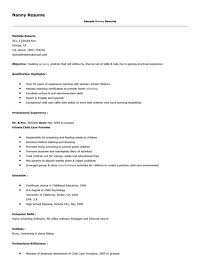 Resume For Babysitting Examples by Nanny Resume Examples Best Part Time Nanny Resume Example