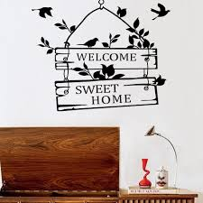 new removable welcome sweet home little tree sign bedroom