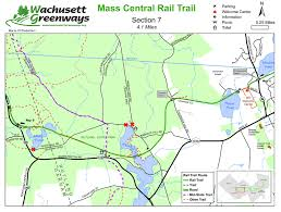 Massachusetts County Map by Rail Trails In Worcester County Massachusetts Masstrails Com