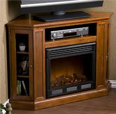 Tv Stands With Electric Fireplace Corner Electric Fireplace Tv Stand Burning In Brilliant