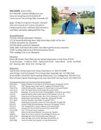 College Freshman Resume Examples by College Golf Resumes Best Resume Collection
