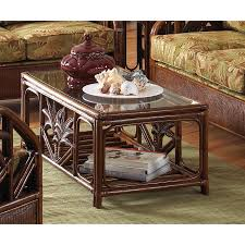 cancun palm end table shop hospitality rattan cancun palm glass coffee table at lowes com