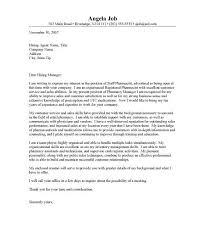 cover letter for a pharmacist job winning clinical pharmacist