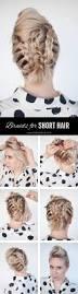 braids in short hair short hairstyle tutorial hair romance