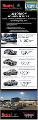 sears imported autos march newsletter