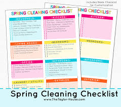 spring cleaning tips spring cleaning checklist and cleaning essentials the taylor house